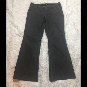 ANA Women's Black Pinstripe Trouser Jean Size 14